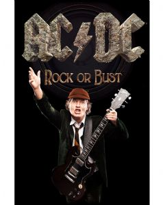 AC/DC Rock or Bust  large fabric poster / flag 1100mm x 750mm (rz)